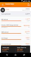 Screenshot of Contul meu Orange