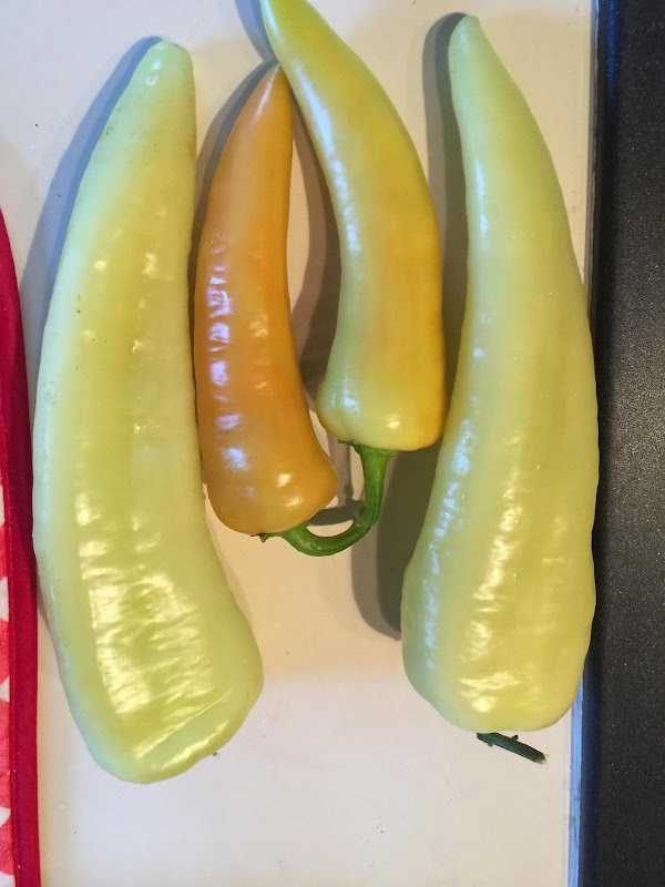 Blanch pepper in boiling water for 3 min then chill in ice water, set...