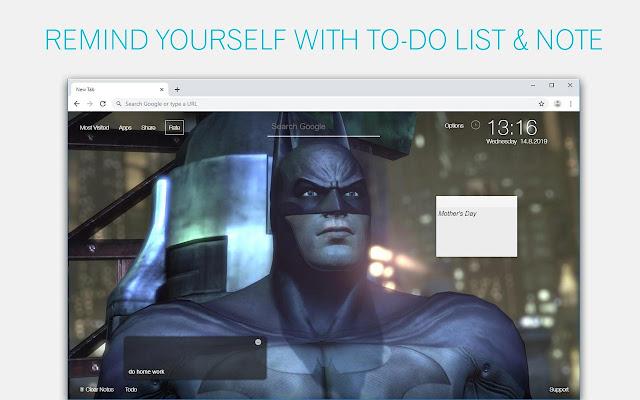 Batman Wallpapers HD Custom DC Comics New Tab