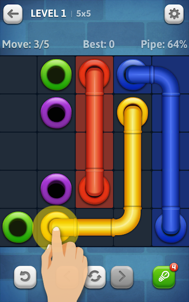 Line Puzzle: Pipe Art Android App Screenshot