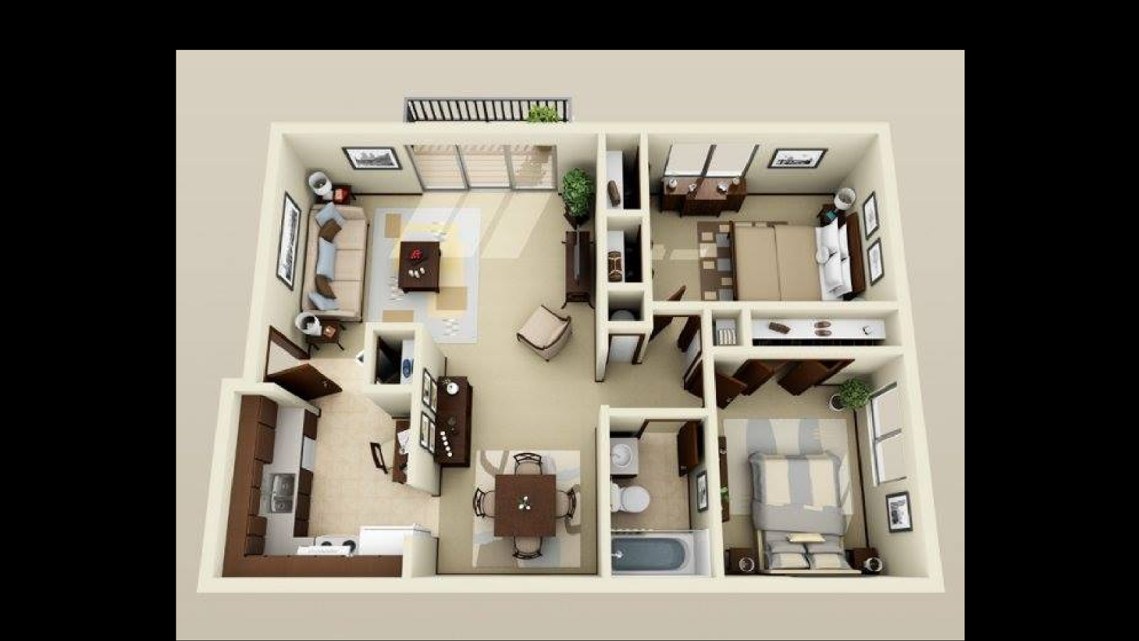 Layout design house - 3d House Design Screenshot