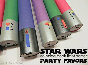 Photo: DIY Star Wars Lightsaber Party Favors:  http://www.madincrafts.com/2013/01/homemade-star-wars-party-favors.html  #starwarstuesday