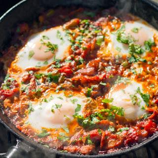 Grilled Huevos Veracruz.