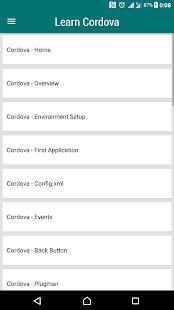 Learn Cordova - náhled