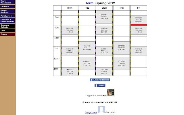 umd social scheduler