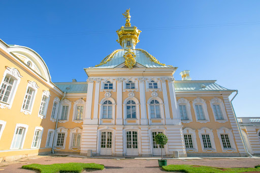 Peterhof-Palace-1.jpg - Part of the sprawling Peterhof Palace complex.