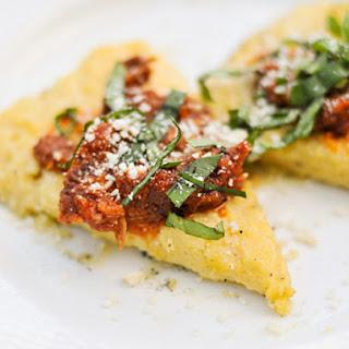 Grilled Polenta with Marinara, Parmesan, and Basil