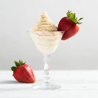 Strawberries and Brandy Alexander Whipped Cream.