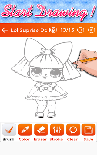 How To Draw Lol Surprise Doll (christmas edition) for PC