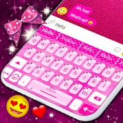 Pink Bow Keyboard \ud83c\udf80 Pink Ribbon Theme Keyboard