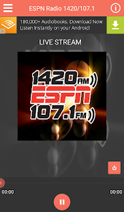 ESPN Radio 1420/107.1- screenshot thumbnail