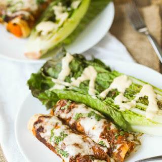 Vegetarian Mole and Sweet Potato Enchiladas with Tofu