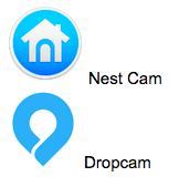 Nest cam and drop cam icons