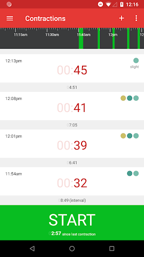 Contractions Timer for Labor 3.1 screenshots 1