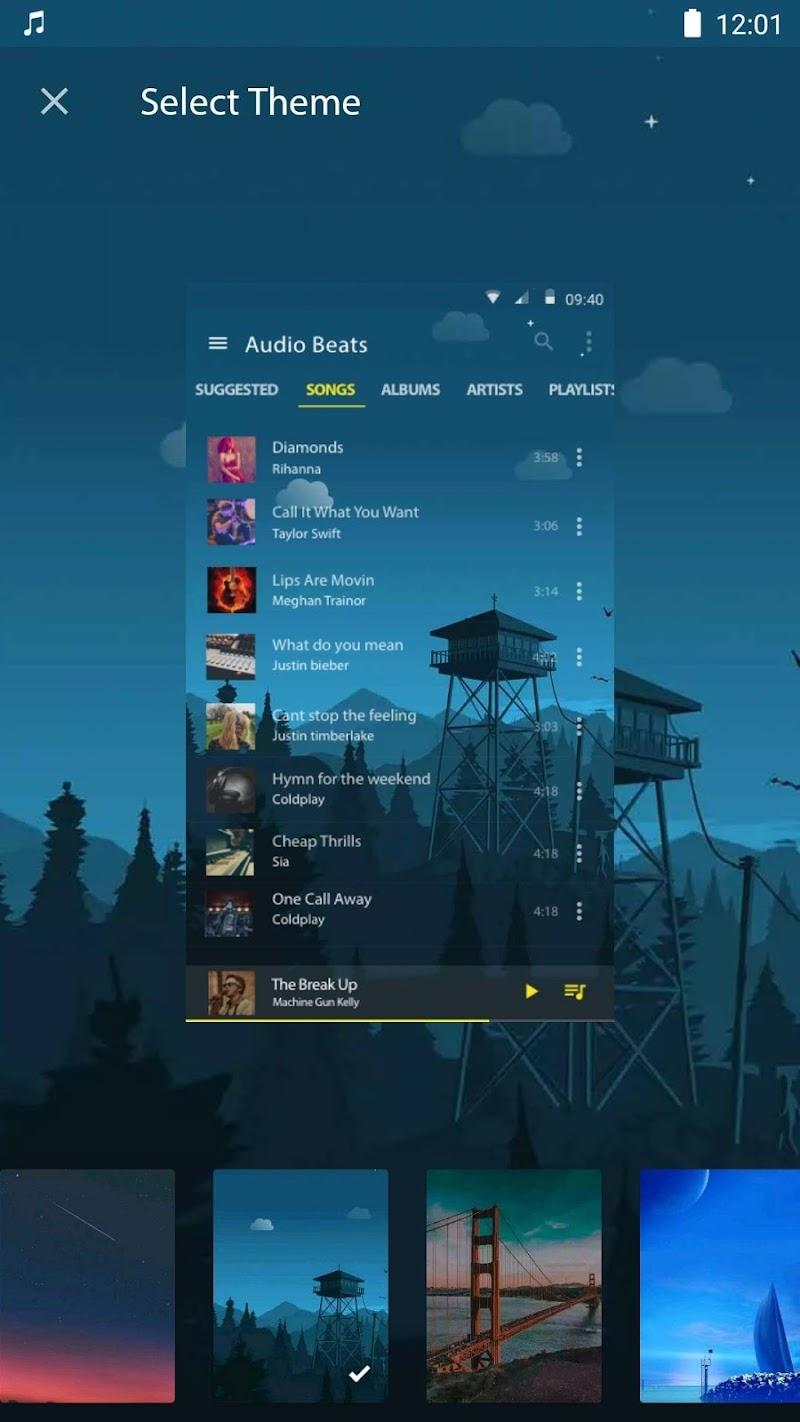 Audio Beats - Mp3 Music Player, Free Music Player Screenshot 2