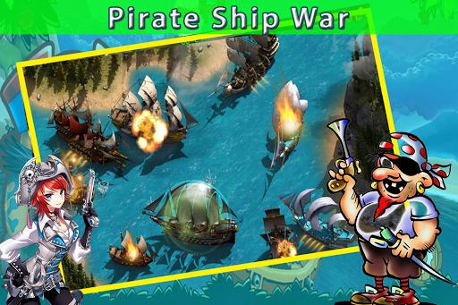 海の海賊船の3D