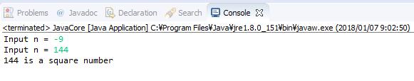 Java - Số chính phương