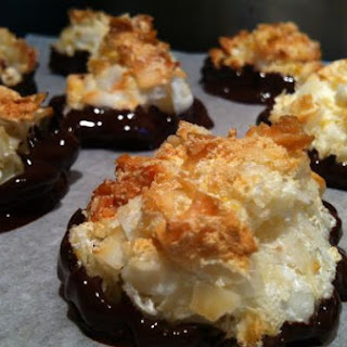 Gluten Free Dairy Free Chocolate Dipped Coconut Macaroons