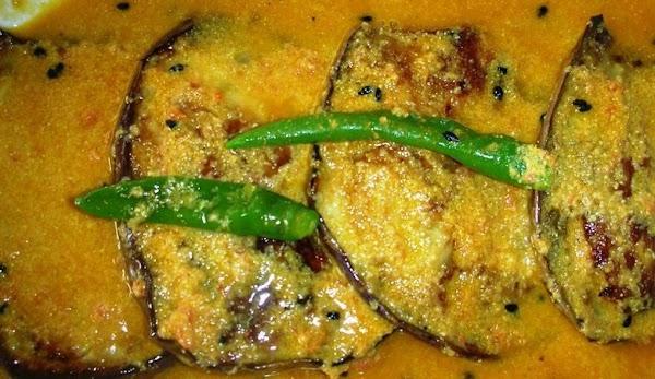 Eggplant In Mustard And Tomato Sauce Recipe