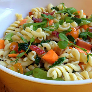 Garden Market Pasta Salad with Smoked Trout.