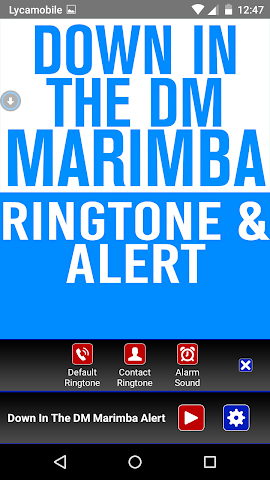 android Down In The DM  Marimba Tone Screenshot 1
