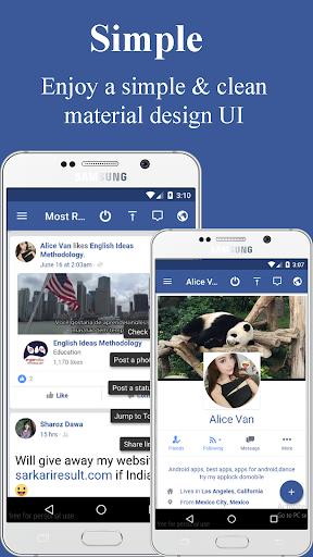 Lite Messenger for Facebook Lite 3.1 screenshots 1