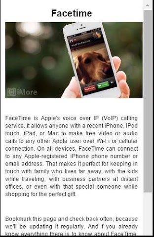 android Guide For Facetime video chat Screenshot 0