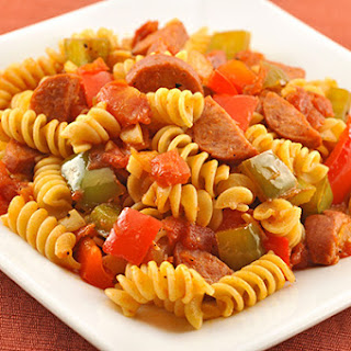 Pasta with Smoked Sausage and Peppers