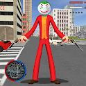 Amazing Joker Stickman Rope Hero Gangster Mafia icon