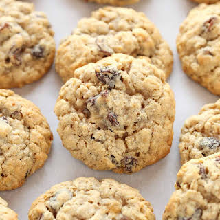 Soft and Chewy Oatmeal Raisin Cookies.
