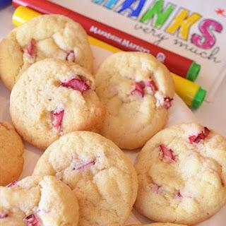 Lemon and Rhubarb Cookies.
