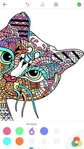 Cat Coloring Pages for Adults screenshots 2