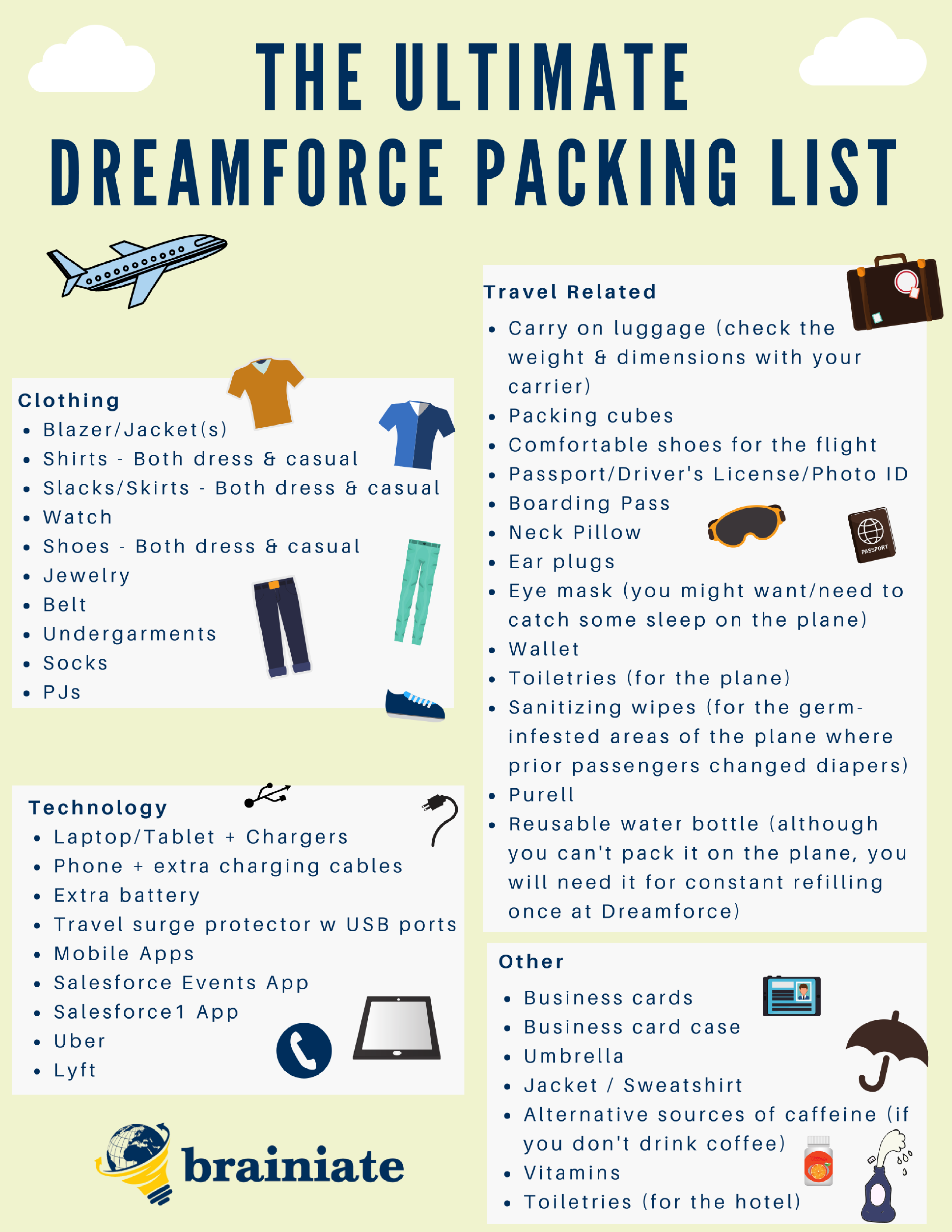 Ultimate Dreamforce Packing List