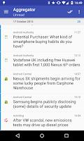 Screenshot of Aggregator   RSS News Reader