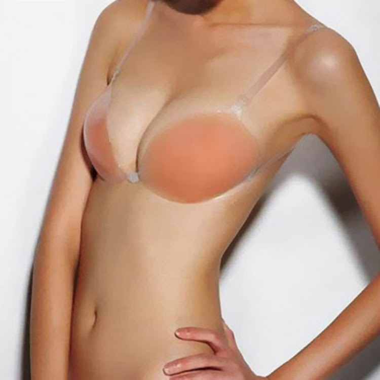 Nubra Silicone Bra with Adjustable and Removable Clear Straps Sweat proof Waterproof bra by Supermodels Secrets