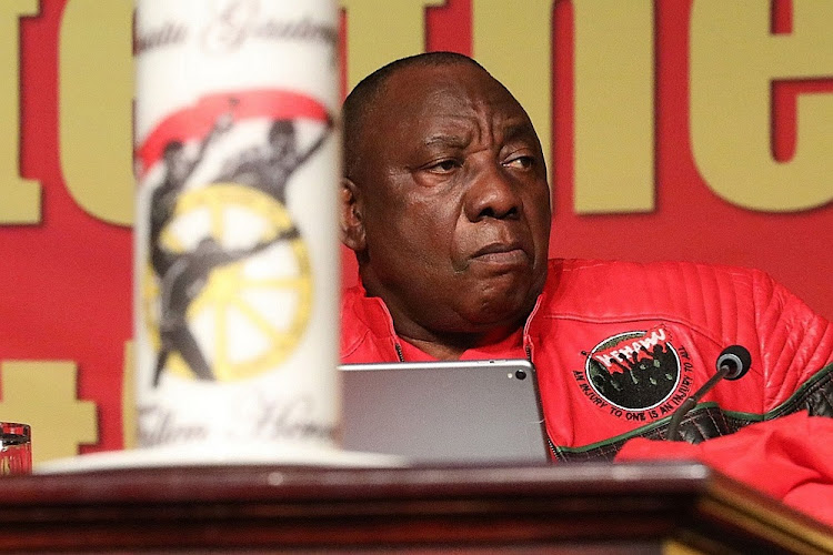 President Cyril Ramaphosa attends the 13th Cosatu national congress at Gallagher Estate in Midrand, September 17 2018. Picture: THULANI MBELE