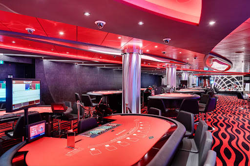 msc-seaview-platinum-casino.jpg -  Try your hand at blackjack, roulette, slots and more at the Platinum Casino on MSC Seaview.