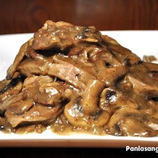 Lengua in Mushroom Sauce