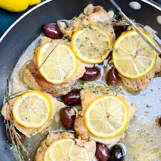 One-Skillet Mediterranean Lemon Chicken.