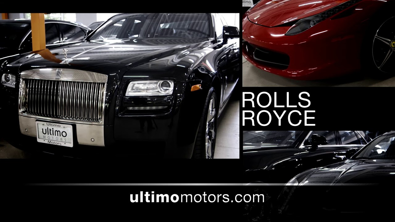 Ultimo Motors promo photo showing Rolls Royce models