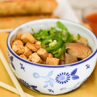 Miso Tofu Noodle Soup.