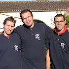 William, Sébastien et Nicolas Marathon Cognac profit L'Arche