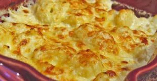 Potatoes With Cheezy Cauliflower Sauce Recipe