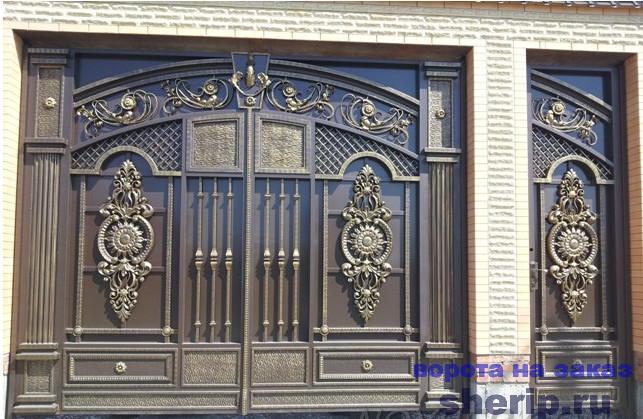эскизы кованые ворота фото