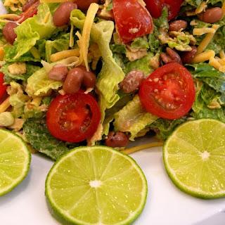 Mexican Salad with Creamy Avocado Dressing.