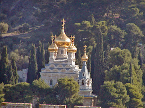 Photo: Church of St. Mary Magdalene.  The Russian Orthodox church at the Mount of Olives was built by Tsar Alexander III in honor of his mother, whose patron saint was Mary Magdalene.