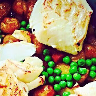Cod, Jersey Royals, Chorizo and Pancetta Bake Recipe