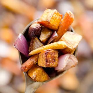 Balsamic Dijon Roasted Root Vegetables