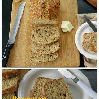 Parmesan Cracked Pepper Beer Bread #BreadBakers.