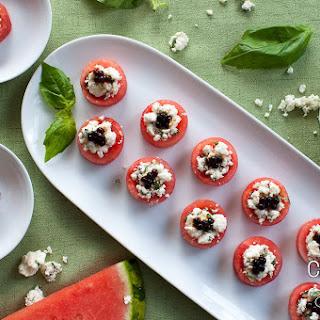 Watermelon Feta Balsamic CanapéS Recipe